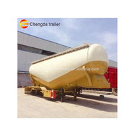 Chengda Brand 40 CBM dry mixing tank for cement and silika cement trailer thumbnail image