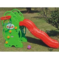 Small playground plastic slide with swing set for kids FY826302 thumbnail image