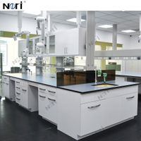 OEM Design High Quality Chemical Laboratory Furniture Workbench Island Table With Sink