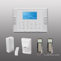Wireless Wired GSM PSTN Home Security System LCD Burglar Alarm House Auto-Dialer