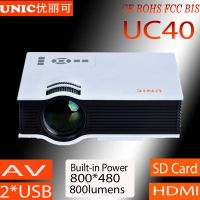 2015 Newest LCD Projector UC40 with 800*480 home theater projector