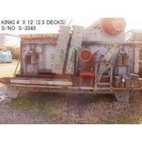 "USED ""KINKI"" HORIZONTAL TYPE 4' X 12' VIBRATING SCREEN S/NO. S-3548 (2.5 DECKS) WITH MOTOR thumbnail image"