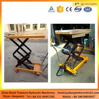 500kg Scissor Type Portable Hydraulic Manual Lift Trolley