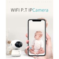Home baby monitor ip surveillance smart robot camera with 3D panoramic degrees by wifi VR 1080p hd