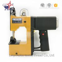 Portable bag closer machine