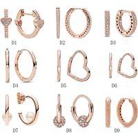 Wholesale Gold 925 Sterling Silver Cubic Zirconia Stud Earrings