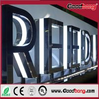 Export high quality strong thin vacuum custom 3D led light metal & acrylic letter,standard