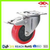 Stainless steel PU caster wheel