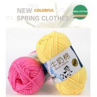 Milk Cotton Knitting Yarn 50g/ball High Quality Warm DIY Milk Cotton Yarn Baby Wool Yarn crochet thumbnail image