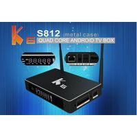 2G+16G K6 Metal case iptv indian channels s812 4K tv android box with URAT debug and SATA interface