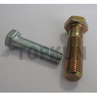 Zinc plated hex cap screw