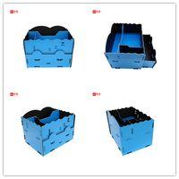Decorative modern fashionable Eco-friendly fashion design PP foam file folder material cosmetic box