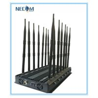 14 Bands Stationary Antenna Jammer,Blocker for All Cellular,GPS,Lojack, Alarm,14 Antennas Cellular +