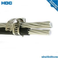 twisted aluminum wire conductor 216mm2 aerial bundle cable