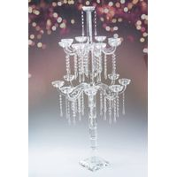 Hanging Crystal Candlelabra for Wedding Centerpieces