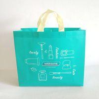 Durable wholesale hot press laminated non woven promotional bag shopping bag thumbnail image