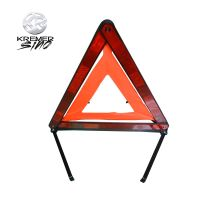 Car accessory, red safety reflective warning triangle for emergency