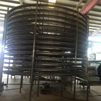 Food Factory Customized IQF Bakery Pizza Spiral Cooling Conveyor Belt Machine