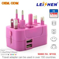 2014 New design Dual USB travel adapter with CE,FCC ROHS approved