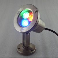 IP68 3w rgb led underwater lights