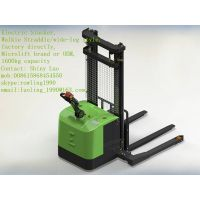 Walkie straddle/wide-leg Electric Stacker,1600KG capacity, Microlift brand or OEM, factory direclty,