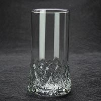 Diamond-cut bottom whiskey glasses