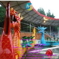 Aqua Park Sliding Dragons Rides Roller Coaster/Electric Train Family rides dragon shoot water for ho