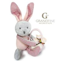 Newborn baby gift velvet rabbit doll with long ears for baby doll parts with EN71 test report and CE thumbnail image