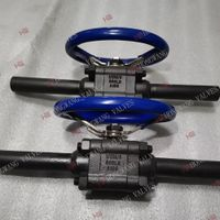 Stainless Steel Industrial Forging 3PC High Pressure Ball Valve With Extended Pipe Connection