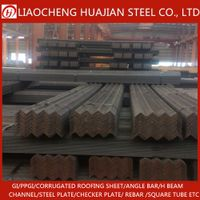 Building Materials black or galvanized Angle Steel with Low Price