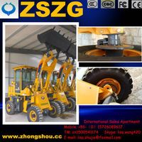 Mini wheel loader ZL-916 for seashore cleaning machine
