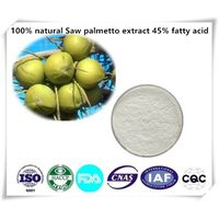 Saw Palmetto extract  45% fatty acid Cas number:84604-15-9  1kg/bag