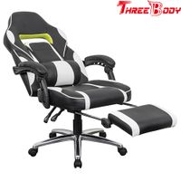 High Back Ergonomic Gaming Chair Racing Chair Napping Computer Office Chair With Padded Footrest