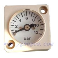 Square Window Mini Pressure Gauge