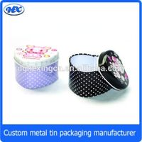 Heart shape decorative wedding favor candy tin box
