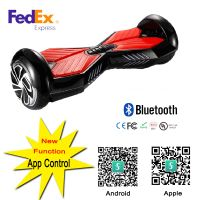 2016 Electric Hoverboard Blue+Red Smart Balance Wheel Balance With Bluetooth Speaker FedEx Free Scoo