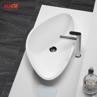 white acrylic basin sink / basin acrylic sink / solid surface wash bowl
