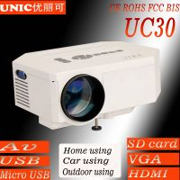 Mini portable projector UC30 mobile power supply