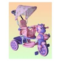 children tricycles with canpoy and fabrics on seat