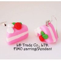 fimo/polymer clay Cake ice cream earring necklace rings