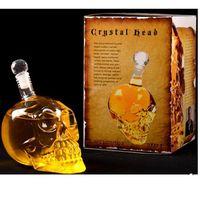 New Design 1000ml Skeleton Head Skull Glass Bottle For Wine thumbnail image