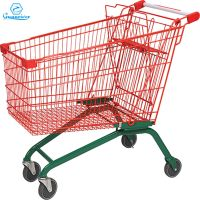 Design supermarket retail store shopping mall metal steel Europe shopping trolley cart for sale