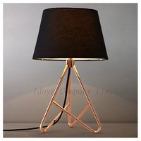 Hot Modern elegant Table Lamp Desk Lamp metal and cloth shade