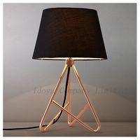 Hot Modern elegant Table Lamp Desk Lamp metal and cloth shade
