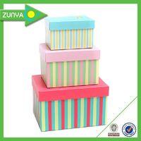 OEM elegant recycled hard paper gift box