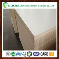 One Faced White Melamine MDF Board
