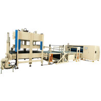 Mattress compression fold and roll packing machine