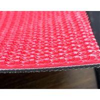 Rough Top Grass Red PVC Conveyor Belt 5mm