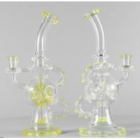 UV Reactive Feb Egg Glass Recycler Water Pipe