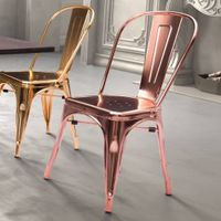 Rose Gold/ Gold color metal dining chair